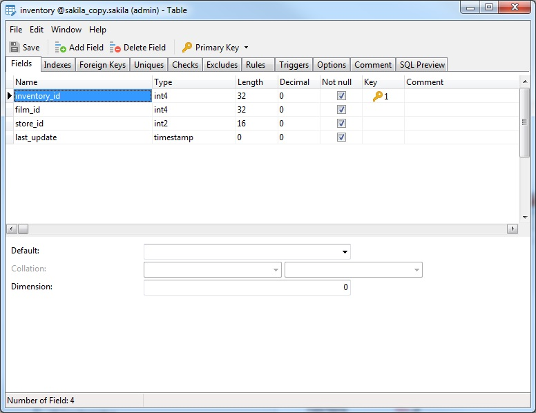 Performing Database-wide Searches in Navicat