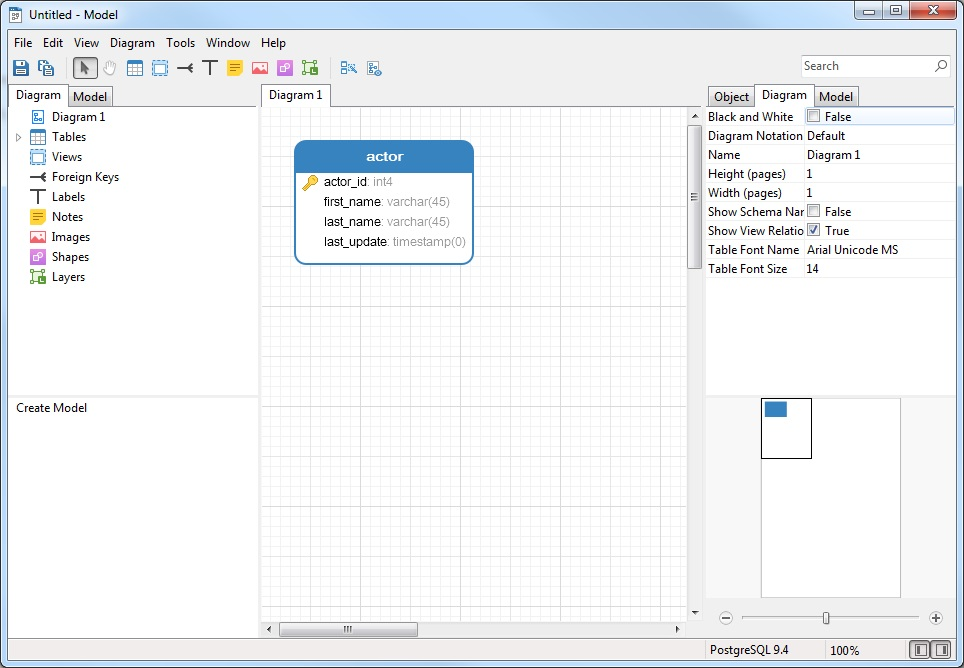 Create a Model from a Database in Navicat