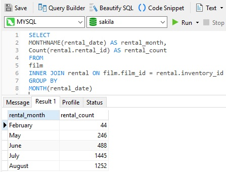 Navicat Query Builder- Working with Aggregated Output Fields