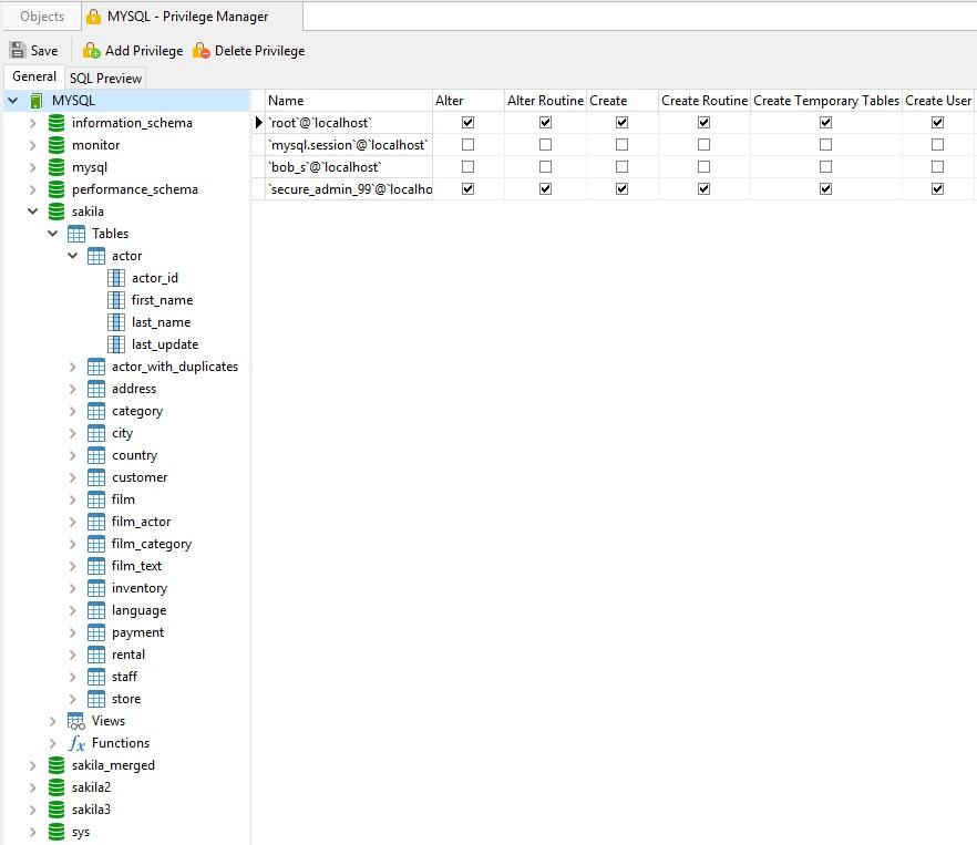 Manage MySQL Users in Navicat Premium - Part 4: The Privilege
