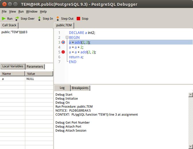 PostgreSQL Debugger